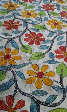 Resultado de imagen de Kantha embroidery