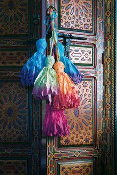 X ღɱɧღ ⊰✿ Marocco Bohemian Living, Bohemian Decor, Bohemian Style, Deco Boheme Chic, Passementerie, Moroccan Style, Home Deco, Color Inspiration, Tassels