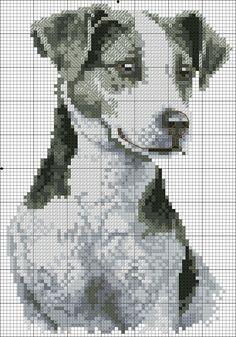 Foto Modern Cross Stitch Patterns, Cross Stitch Designs, Cross Stitching, Cross Stitch Embroidery, Free Cross Stitch Charts, Dog Crafts, Dog Pattern, Cross Stitch Animals, Machine Embroidery Patterns