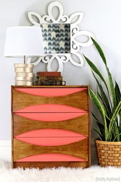 Give a boring old IKEA Rast Hack a Mid-Century Modern vibe with this tutorial! Love that you can also use these as nightstands! {Reality Daydream}