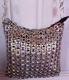 Upcycling soda tabs - handbag
