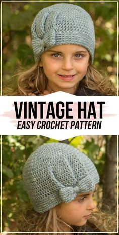 crochet The Vienna Vintage Hat pattern Crochet The Vienna Vintage H. crochet The Vienna Vintage Hat pattern Crochet The Vienna Vintage Hat free pattern – Easy Crochet Hat, Crochet Kids Hats, Crochet Crafts, Crochet Baby, Knit Crochet, Kids Crochet Hats Free Pattern, Beginner Crochet Hat, Vintage Crochet Patterns, Crocheted Hats