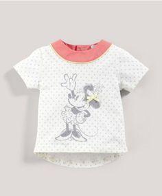 Girls Disney Minnie Mouse Polka Dot T-Shirt