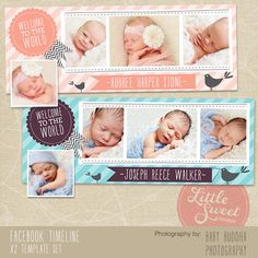 Facebook Timeline Cover - Photoshop Template for photographers (FB6) - INSTANT DOWNLOAD