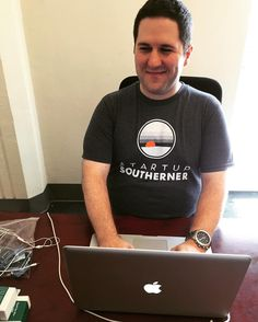 It's T-Shirt Thursday for Andy Roth of RocketBolt. We likey. We may have to borrow those blue jackets one day. #StartupYall