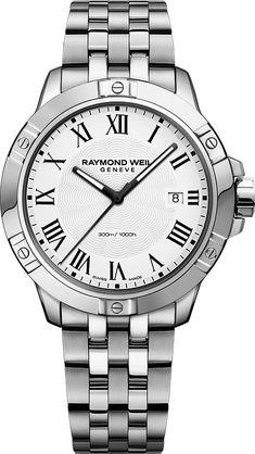 Sorry, completed: Raymond Weil Mens Stainless Steel Tango Watch 8160 ST 00300 Simple Watches, Modern Watches, Elegant Watches, Beautiful Watches, Luxury Watches, Stainless Steel Bracelet, Stainless Steel Case, Raymond Weil, Army Watches
