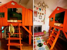 Treehouse Beds for Boys | Indoor tree house! Oh the boys would LOVE this. I so wish I could hook ...