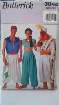 Genie Costumes for Men & Women Butterick 3048 Sewing Pattern