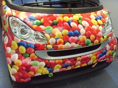so cute! gumball smart car wrap Visit www.ssar.com for a car wrap to fit any budget!