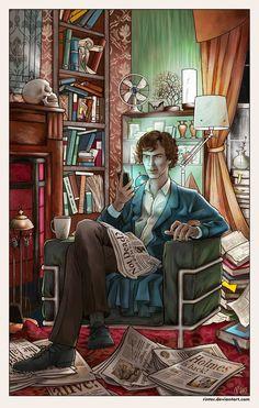 Back at 221B Baker Street by Rinter.deviantart.com on @deviantART