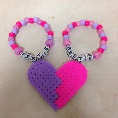 Best friends festie bestie matching kandi bracelets - I don't like wearing kandi but this is cute
