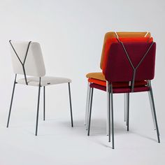 Frankie chair by Färg & Blanche was introduced at Stockholm. The back support is inspired by men's trouser suspenders of the swing era. Fun. #feb2015