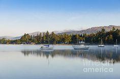 Autumn Morning Lake Windermere - Art Print.