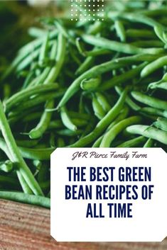 21 Best Green Bean Recipes Do you love eating green beans but find yourself sick of the same old recipes Consider these new recipes to help you make the most of your gar. Good Green Bean Recipe, Green Bean Recipes, Lentil Recipes, Vegan Recipes, Cooking Recipes, Growing Green Beans, Growing Greens, Planting Green Beans, Diy Herb Garden