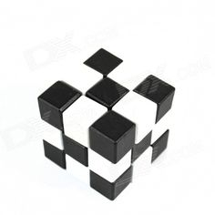 Educational Wooden Magic Cube Square Toy - Black + White