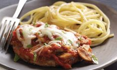 Pork Chops Parmigiana – Serve this recipe with hot cooked pasta, and this easy variation on the Italian classic is ready to enjoy for dinner! Pork Belly Lechon Recipe, Pork Belly Recipes, Pork Chop Recipes, Pork Meals, Chops Recipe, Kraft Recipes, Pork Dishes, 20 Min, Food Festival