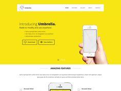 Umbrella Landing Page Template
