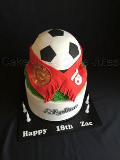 Soccer Card Manchester United Cake