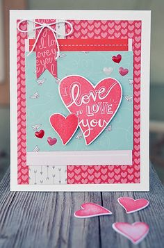 Card by Wendy Sue Anderson. Reverse Confetti stamp set: Heart to Heart. Confetti Cuts: Heart to Heart. Quick Card Panel: Happy Hearts Day. Valentine's Day Card. Anniversary card. FEBRUARY SKETCH FOR YOU TO TRY. #Reverse Confetti #SFYTT