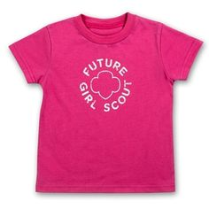Future Girl Scout toddler tee, how cute!