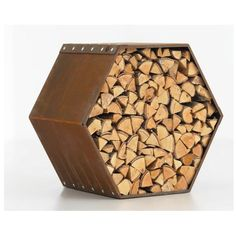 You want to build a outdoor firewood rack? Here is a some firewood storage and creative firewood rack ideas for outdoors. Wood Storage Sheds, Firewood Storage, Storage Racks, Outdoor Firewood Rack, Wood Bees, Rustic Fire Pits, Fire Wood, Log Store, Into The Woods