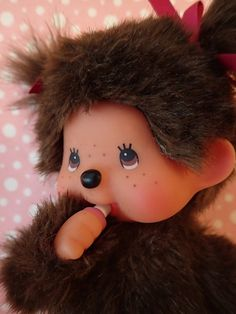 Collectible Vintage Monchhichi Doll Soft Toy Sekiguchi by VintageToysForAll on Etsy Dolls From The 80s, 90s Girl, Star Cards, 90s Toys, Little Twin Stars, Doll Toys, Hello Kitty, Crochet Hats, Kawaii