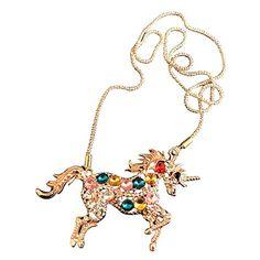 """Amazon.com: Unicorn Horse Pendant Necklace Rainbow Jewelry Charm Gift 22"""": Jewelry Unicorn Horse, Unicorn Necklace, Charm Jewelry, Charmed, Pendant Necklace, Bracelets, Gifts, Rainbow, Amazon"""