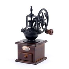 hqclothingbox Vintage Style Coffee Grinder Spice Hand Grinding Machine Handcrank Roller Drive Grain Burr Mill Coffee Machine * Read more reviews of the product by visiting the link on the image.