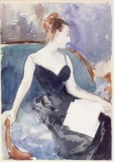 John Singer Sargent, Portrait of Madame Gautreau, 1883 Fogg Art Museum  One of Sargent's studies for his painting Madame X.
