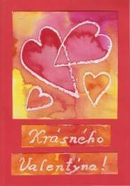 Srdce s voskovým pastelem