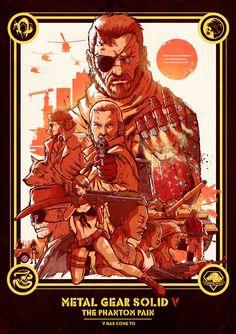Metal Gear Solid V The Phantom Pain affiche cine?ma anne?es 80 1