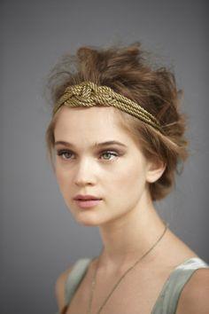 rope braided headband