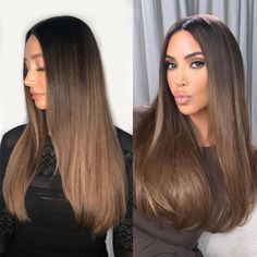 We always love a classic ombre look, check out these ombre looks in different shades and colors. Ombre Hair Color, Brown Hair Colors, Cool Hair Color, Light Hair Colors, Hair Colour, Brown Hair Balayage, Hair Color Balayage, Blonde Highlights, Light Brown Hair