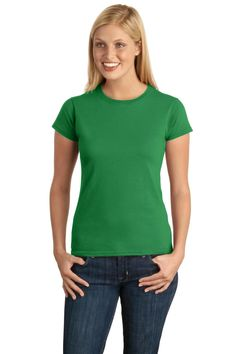 Gildan Junior-Fit Softstyle T-Shirt64000L Irish Green