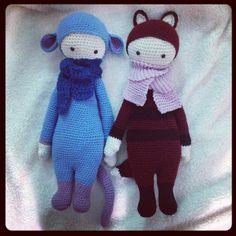 RADA the rat & FIBI the fox made by Morena L. / crochet pattern by lalylala ♡