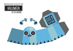 #papertoy #halloween #patron #fantome #ghost