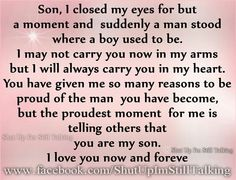 Both of my boys make me very proud to be their mom, I am so blessed!