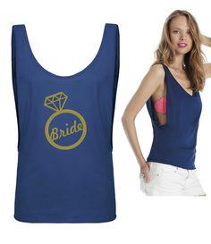 T-Shirts mit Print - JGA Shirt Braut - ein Designerstück von DoppelD-Druck-Design bei DaWanda