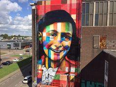"Eduardo Kobra  ""Let me be myself"" - Anne Frank - NDSM-Werf, Amsterdam"