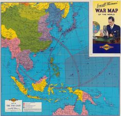 War map of the Far East. 1942. Rand McNally and Sunoco.
