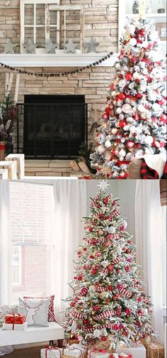 Great pro tips & tricks on how to choose styles & colors, use ribbons & ornaments, & more! - A Piece of Rainbow Beautiful Christmas tree dec Ribbon On Christmas Tree, Beautiful Christmas Trees, Colorful Christmas Tree, Xmas Tree, Christmas Decorations For The Home, Christmas Centerpieces, Christmas Home, Holiday Decor, Winter Wonderland Christmas