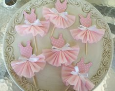 Birthday Decoration Ballerina Tutu Cupcake Toppers Set of 6 for Ballet Party Happy Birthday Ballerina Cupcakes, Ballerina Party, Tutu Cupcakes, Ballerina Birthday Parties, Girl Birthday, Princess Birthday, Princess Party, Ballerina Outfits, Birthday Ideas