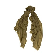 Begg & Co Wispy Superfine Scarf ($275) ❤ liked on Polyvore featuring accessories, scarves, khaki, cashmere scarves and cashmere shawl