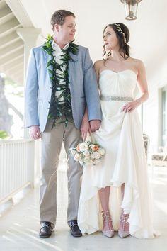 Maui Wedding Inspiration featuring Jenny Packham Dress and Valentino Shoes.  Photography by Trish Barker Photography  www.TrishBarker.com