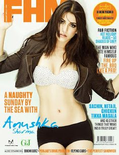 Anushka Sharma on The Cover of FHM Magazine- August 2012. | Bollywood Cleavage