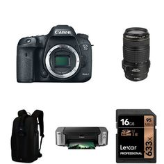 Canon EOS 7D Mark II Digital SLR Camera with 70-300mm Lens, PIXMA Pro-100 Printer, Photo Paper, 16GB Memory Card, Extra Battery and Bag * Visit the image link more details. (This is an Amazon Affiliate link and I receive a commission for the sales)
