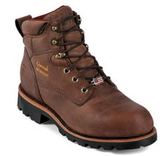 Chippewa American made insulated work boots