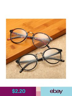 1805cc3092 Glasses Frames Vintage Mens Womens Retro Round Eyeglasses Frame Glasses  Eyewear Clear Lens A