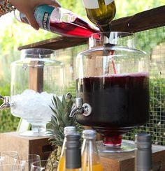 Red Wine Sangria ~ Red Blend + World Market Blackberry Pomegranate Juice