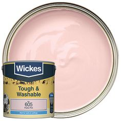 Washable and scuff-resistant emulsion for walls and ceilings in busy rooms, especially in corridors, staircases and children's rooms. Pink Paint Colors, Pink Color, Colour, Pink Ceiling, Lavender Paint, Amber Room, Pink Office, Interior Stairs, Color Pallets